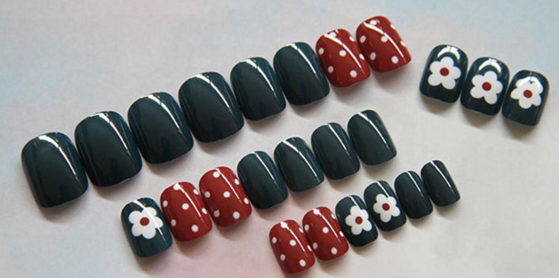 Bộ 24 móng tay giả nail thơi trang (như hình-R-023)