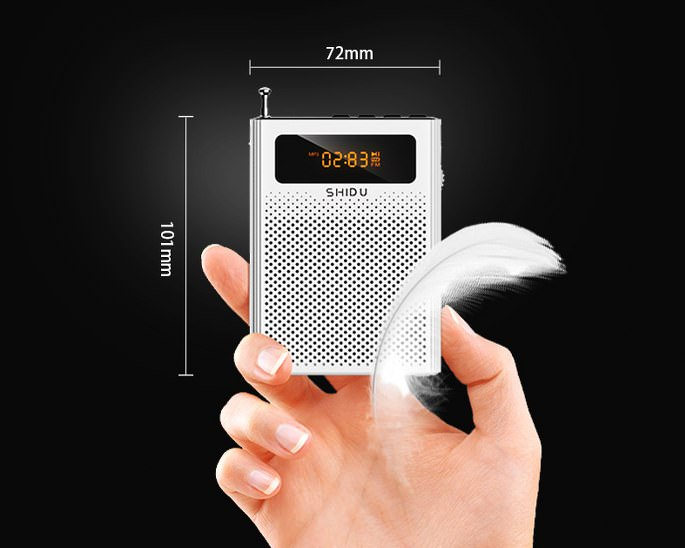 Mic + Loa trợ giảng không dây Shidu S616 mini chuyên nghiệp - Hàng nhập khẩu