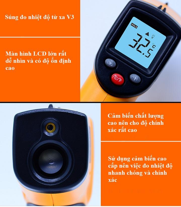 Máy đo nhiệt độ trong công nghiệp cao cấp ( -50 đến 380 độ C )