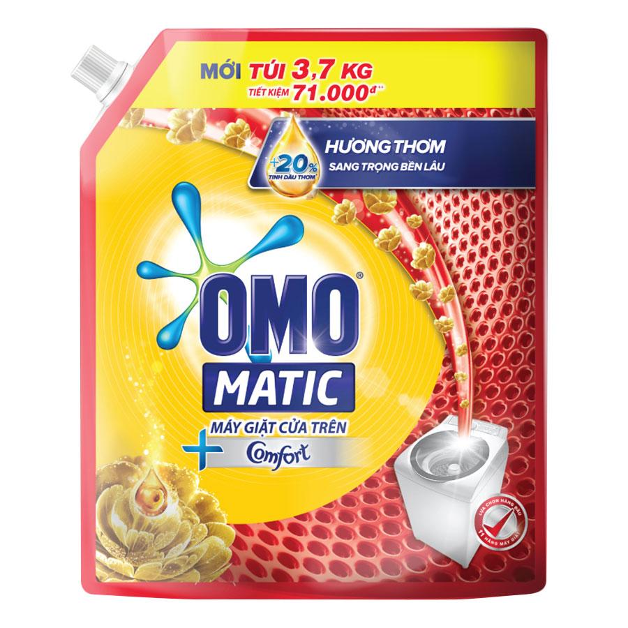 Nước Giặt OMO Matic Comfort Tinh Dầu Thơm Cho Máy Giặt Cửa Trên 3.7KgTúi