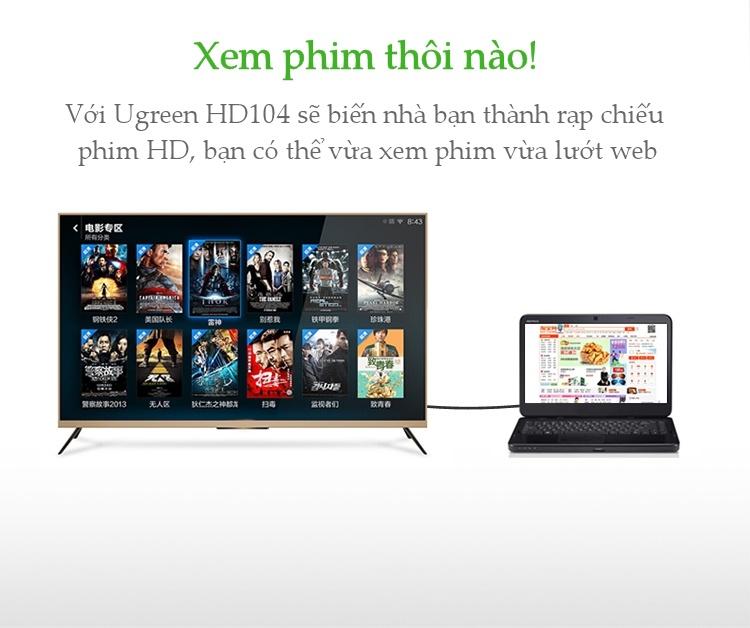 Cáp HDMI 20m UGREEN 10112 cao cấp hỗ trợ 3D 4K HD 1080 - Hàng Chính Hãng
