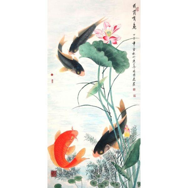 Giấy dán tường - Cá Koi - Mã 12