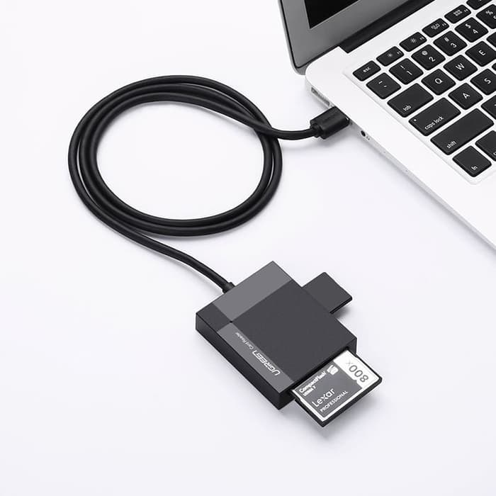 Đầu đọc thẻ USB3.0 hỗ trợ thẻ TF/SD/CF/MS dài 0.5m UGREEN 30231 - Hàng chính hãng
