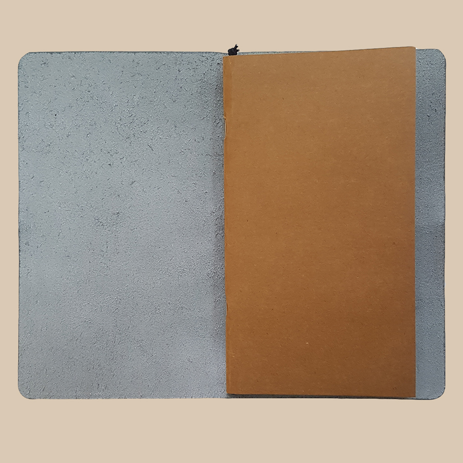 Sổ da Midori Travel Notebook - Xanh Navy (Chưa có ruột sổ)