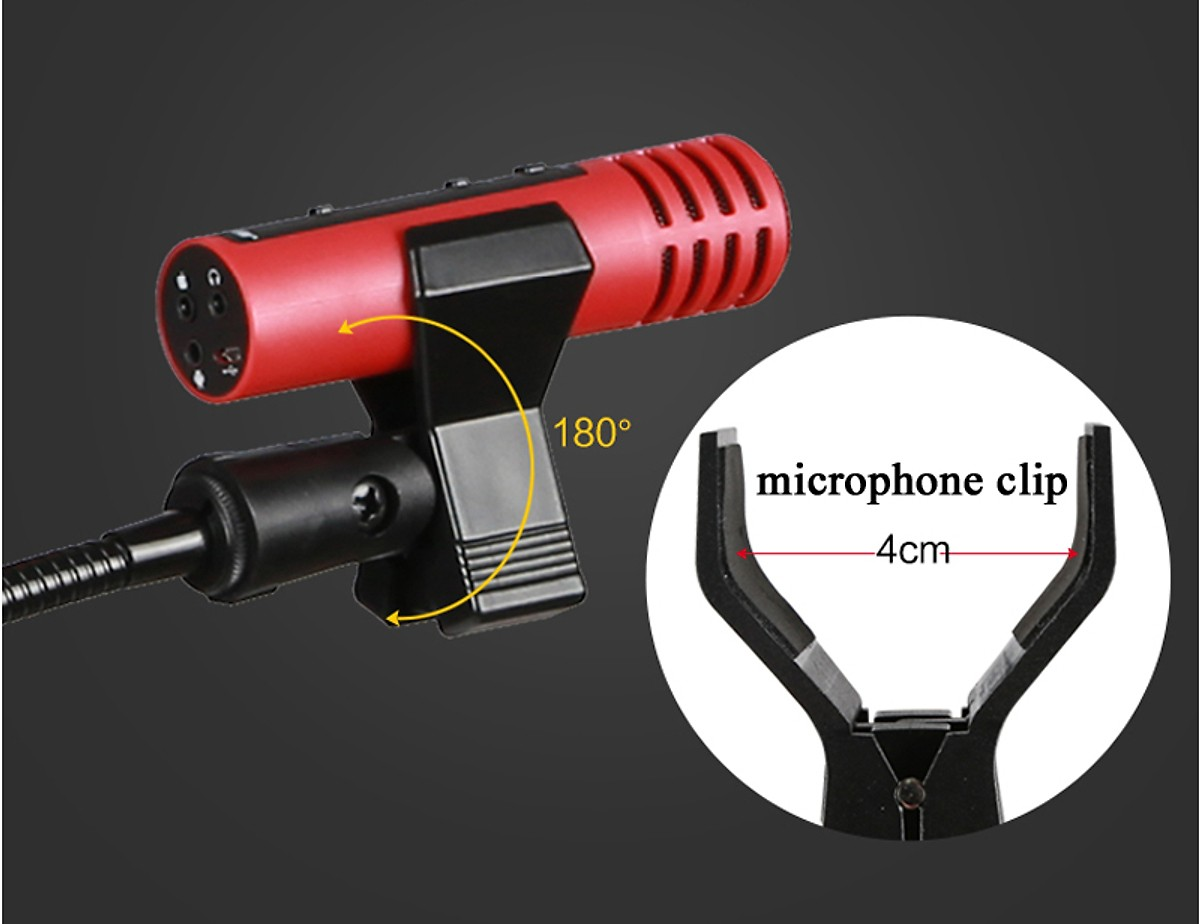 Giá Đỡ Điện Thoại Thông Minh - Dụng cụ livestream bán hàng kẹp bàn có đèn Led/ Kẹp micro/ Gía đỡ điện thoại