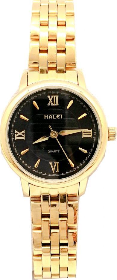 Đồng hồ Nữ Halei - HL550 Dây vàng - Đen
