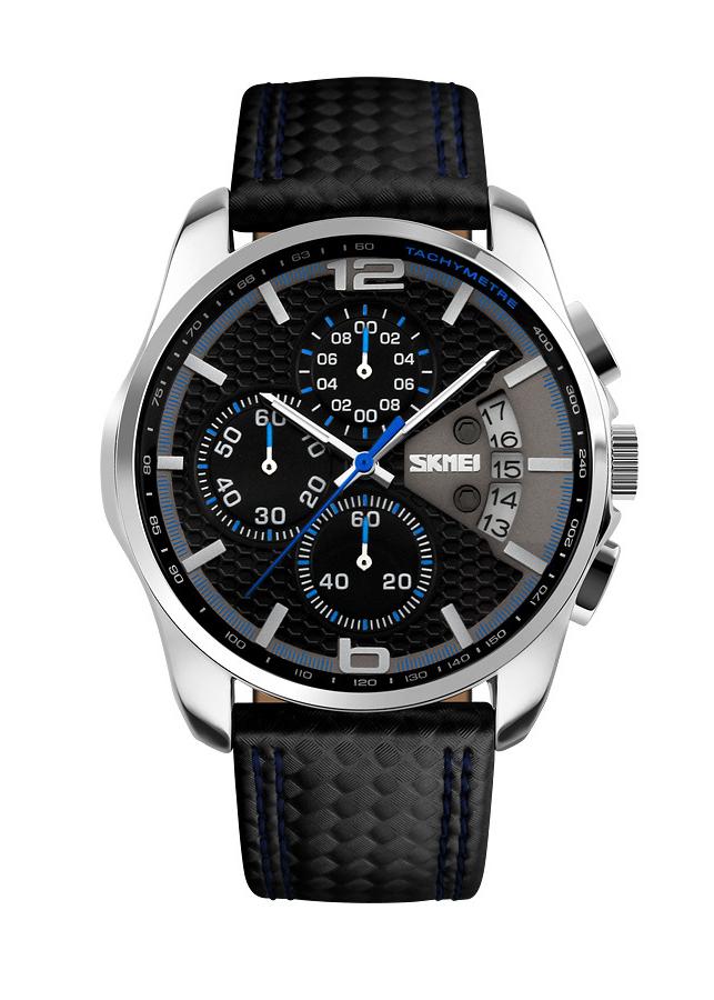 Đồng hồ nam Skmei kiểu dáng thể thao dây da đẹp mắt thu hút JS-9106