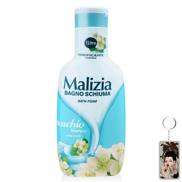 Sữa tắm xạ hương trắng Malizia Bath Foam White Musk 1000ml + Móc khóa