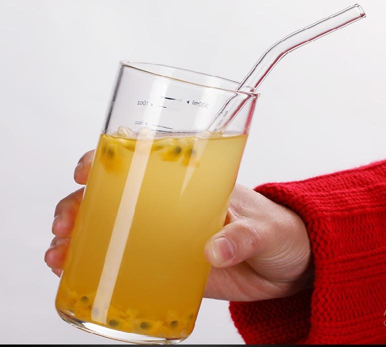 Ống Hút Thủy Tinh Trà Sữa Trân Châu + Túi Vải + Ống hút sinh tố