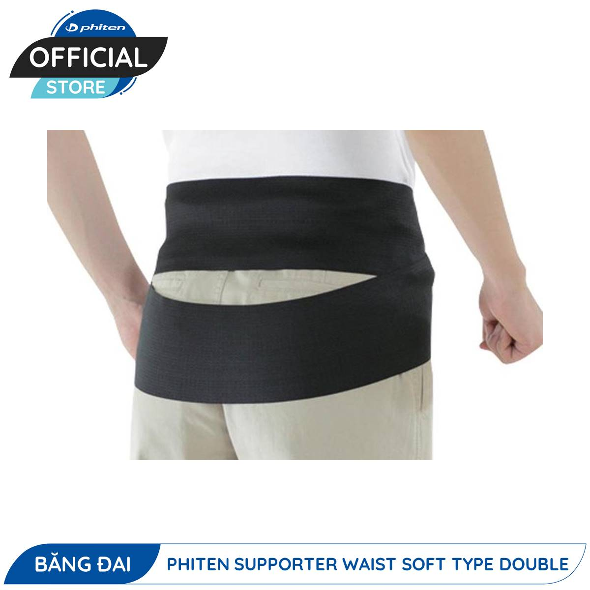 Đai Bảo Vệ Thắt Lưng Phiten Supporter Waist Soft Type Double (Loại Kép Mềm)