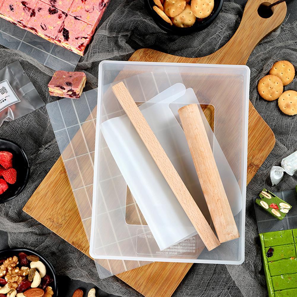 Bộ 6 Dụng Cụ Bằng Nhựa Làm Kẹo/Khuôn Nhựa Làm Kẹo Nougat Đế Rời 6 Chi Tiết Loại 60 ô