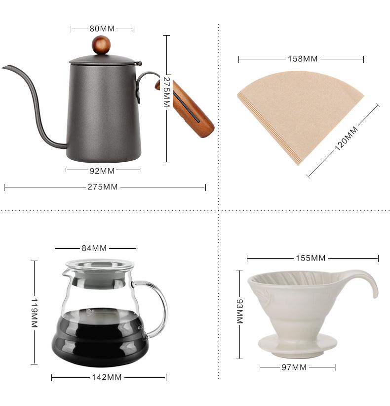 Bộ pha cà phê Drip V60  hộp quà tặng - Bộ pha cà phê Drip V60