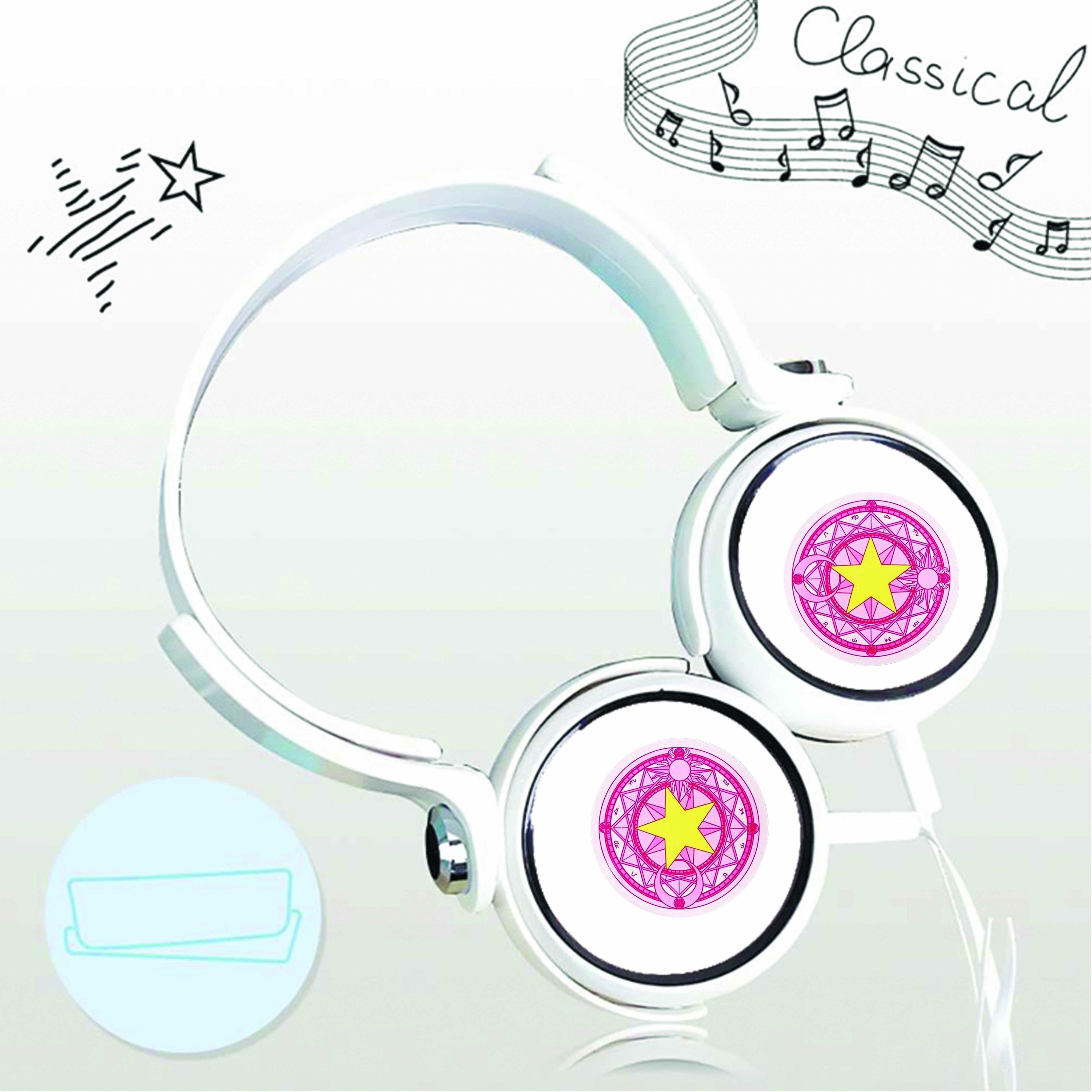 Tai nghe chụp in hình Thủ Lĩnh Thẻ Bài - Cardcaptor Sakura anime cắm dây có mic