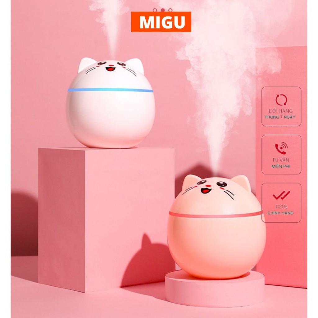 Máy tạo ẩm phun sương nhỏ hình mèo may mắn có chức năng làm mát không khí MIGU.VN