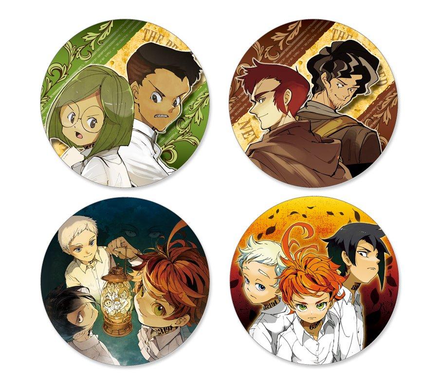 Combo 12 huy hiệu THE PROMISED NEVERLAND - MIỀN ĐẤT HỨA anime