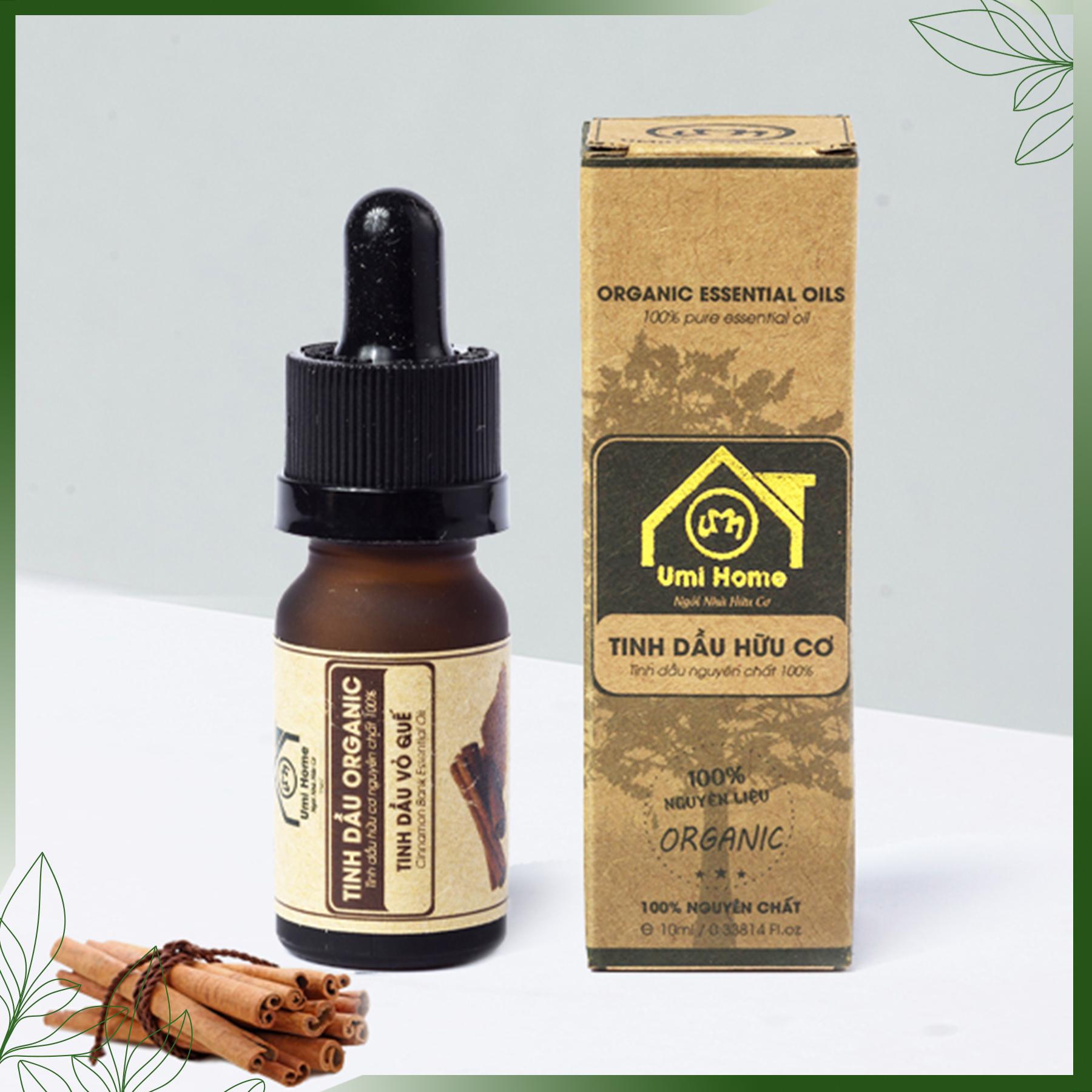 Tinh Dầu Vỏ Quế Nguyên Chất ( 10ml) UMIHOME - Dùng cho đèn xông hương khử mùi, giảm đau đầu, loại bỏ cảm