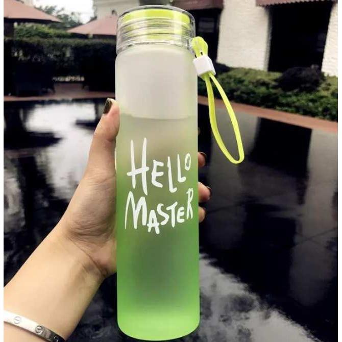 Bình Nước Thủy Tinh Hello Master