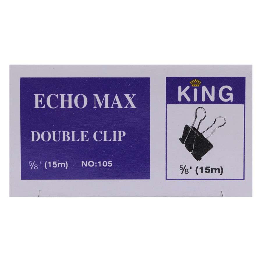 Bộ 6 Hộp Kẹp Bướm Echo (15mm) - Đen