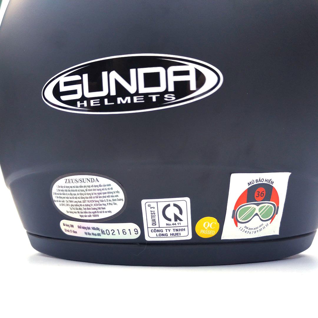 Mũ Bảo Hiểm trùm đầu SUNDA 2000C Trơn