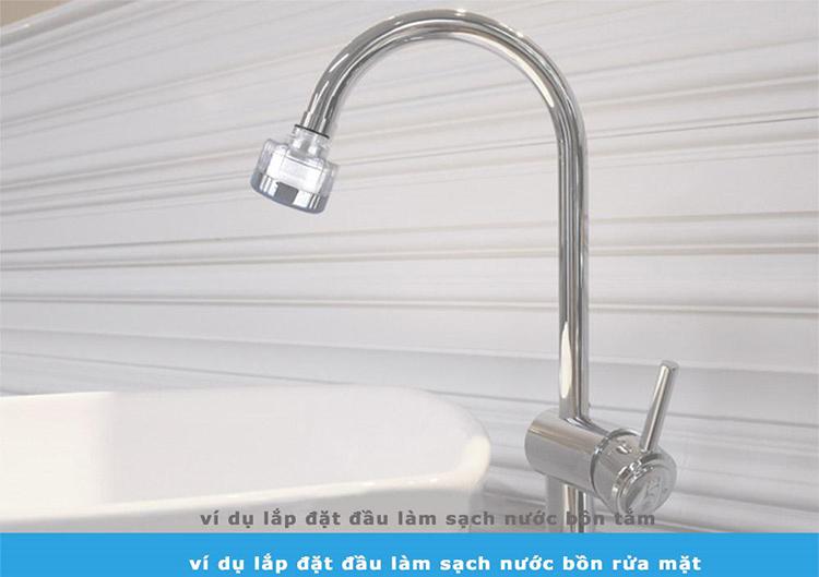 Combo 6 Thanh lọc nước ( ở đầu vòi bồn rửa tay) SF-1000SSC