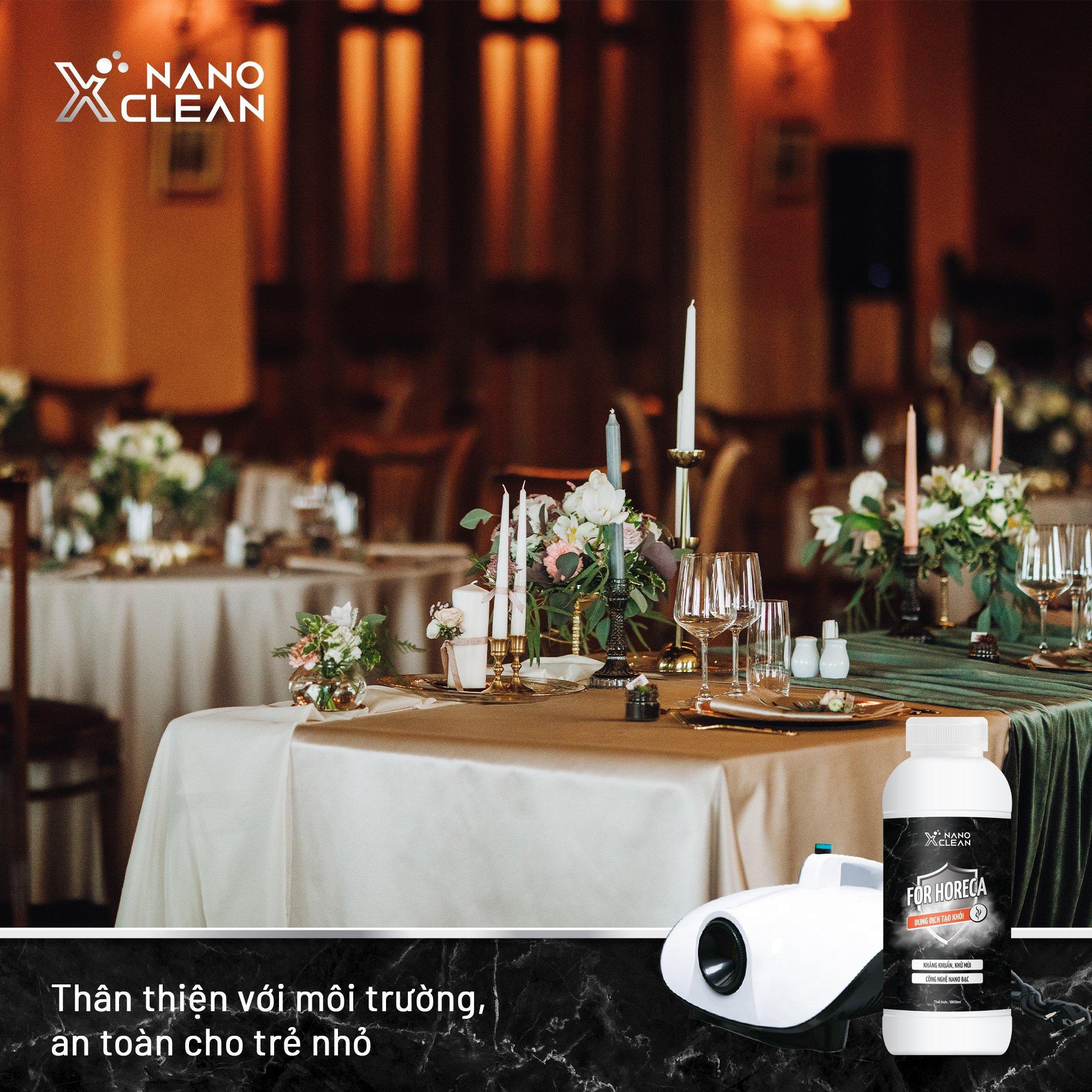 Dung Dịch Nano Xclean Horeca 1000ml - Sử Dụng Khử Mùi Không Gian Nhà Ở, Nhà Hàng, Khách Sạn.
