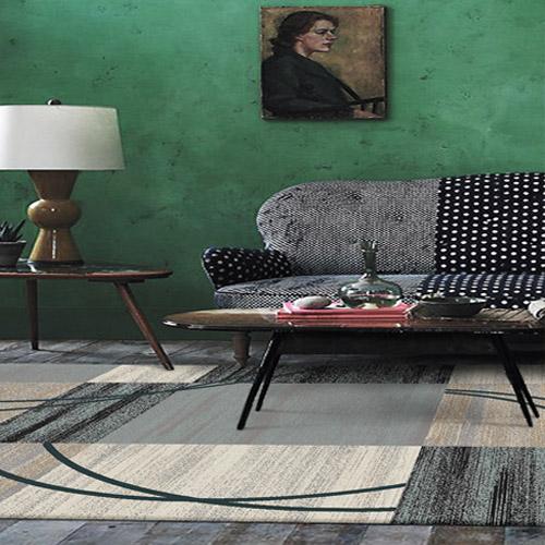 Thảm trải sofa hoa văn ô vuông MQ S7414G