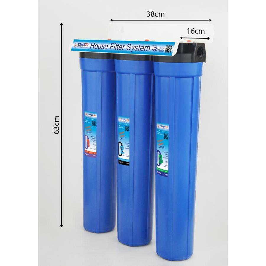 Bộ lọc nước sinh hoạt 3 cấp lọc 20inch Yamato YMTH20-3X