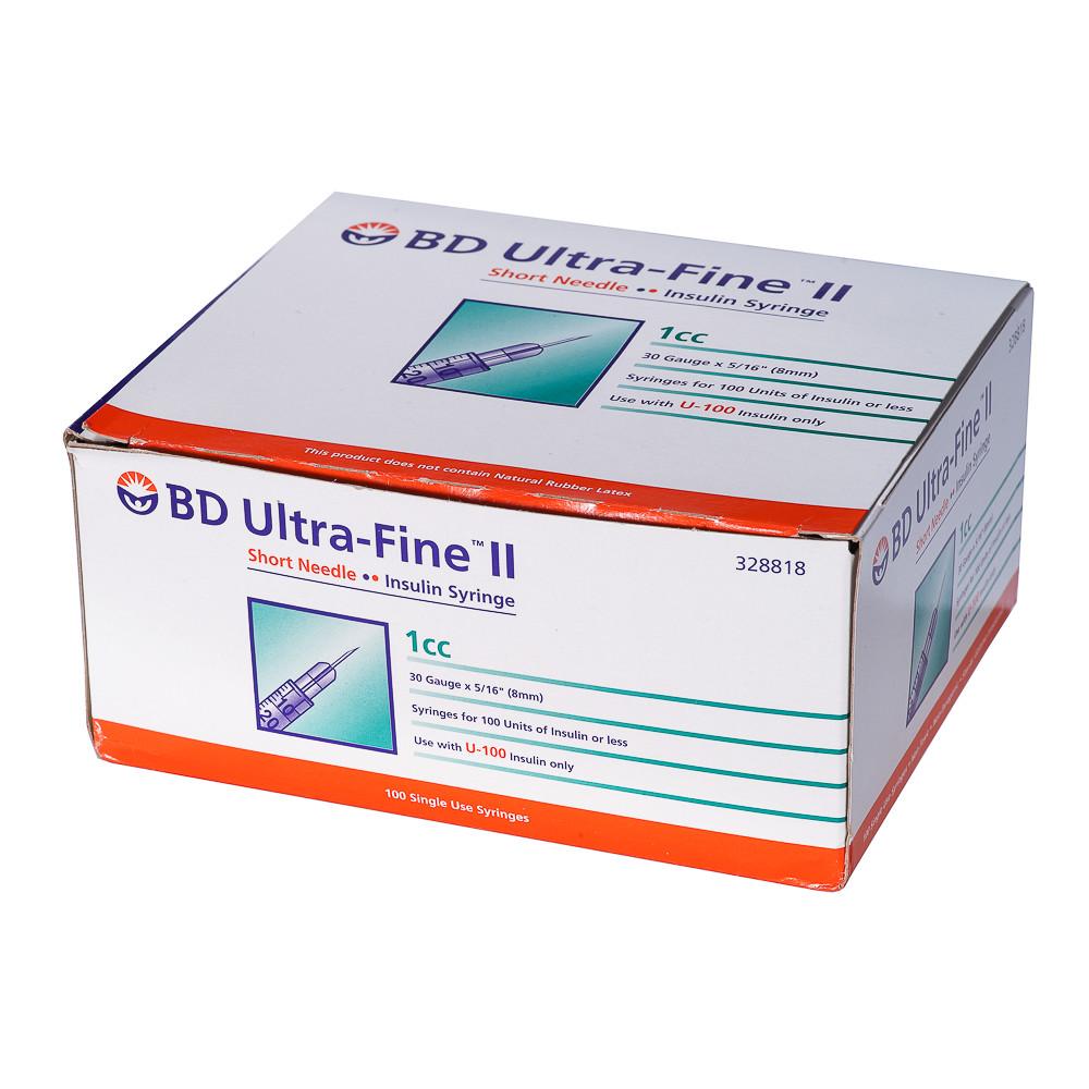 Bơm kim tiêm tiểu đường Insuline BD 1cc x 30G (Hộp) - hộp 100 cây