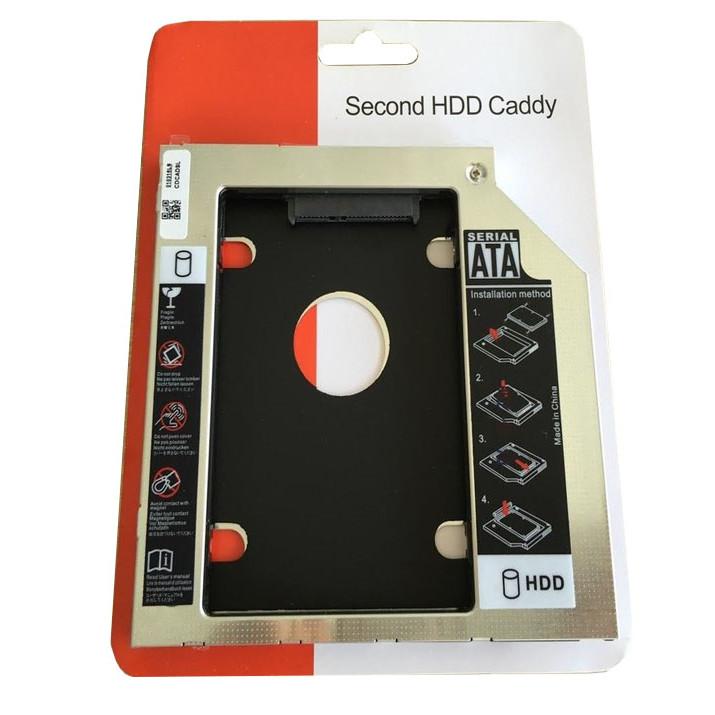 HDD Caddy Bay 2.5inch 12.7mm, Khay Ổ Cứng Thay Thế Ổ DVD, CD Cho LapTop