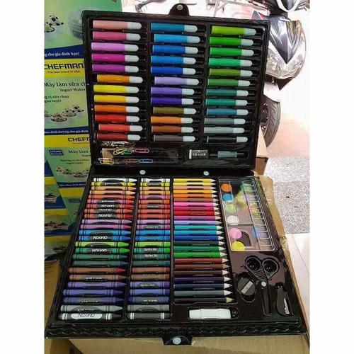 Bộ hộp bút chì màu 150 chi tiết trẻ em TẶNG VÒNG ĐEO TAY GIÁ TRỊ