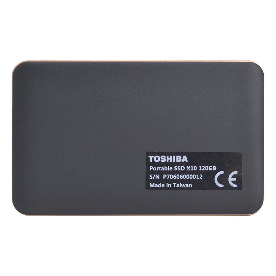 Ổ Cứng SSD Gắn Ngoài Toshiba SSDX10 120GB - Hàng Chính Hãng