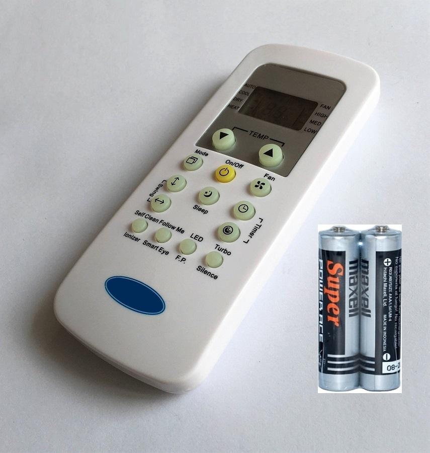 Remote Điều Khiển Cho Máy Lạnh, Điều Hòa Carrier RG56 Hiển Thị Độ F (Kèm Pin AAA Maxell)