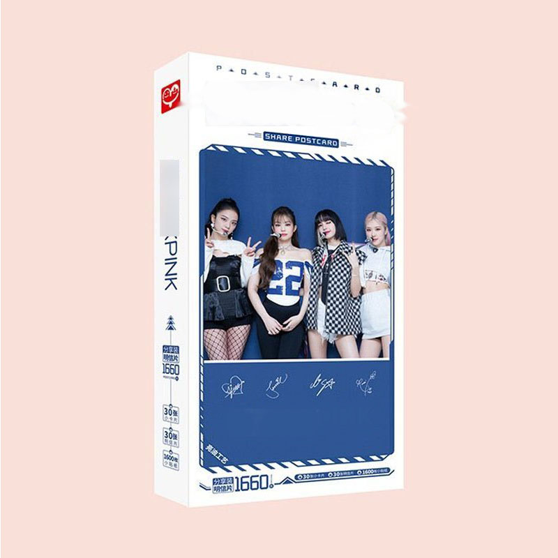Hộp ảnh postcard BLACKPINK THE ALBUM 1660 ảnh mẫu mới
