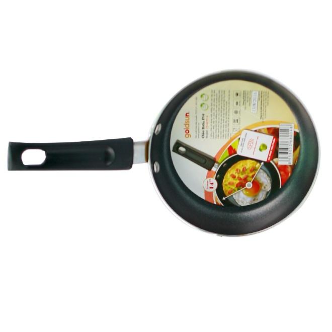 Bộ (1 nồi quánh + 1 chảo) Baby Set Goldsun GE16-2303SG - Màu Ngẫu Nhiên - Chính Hãng