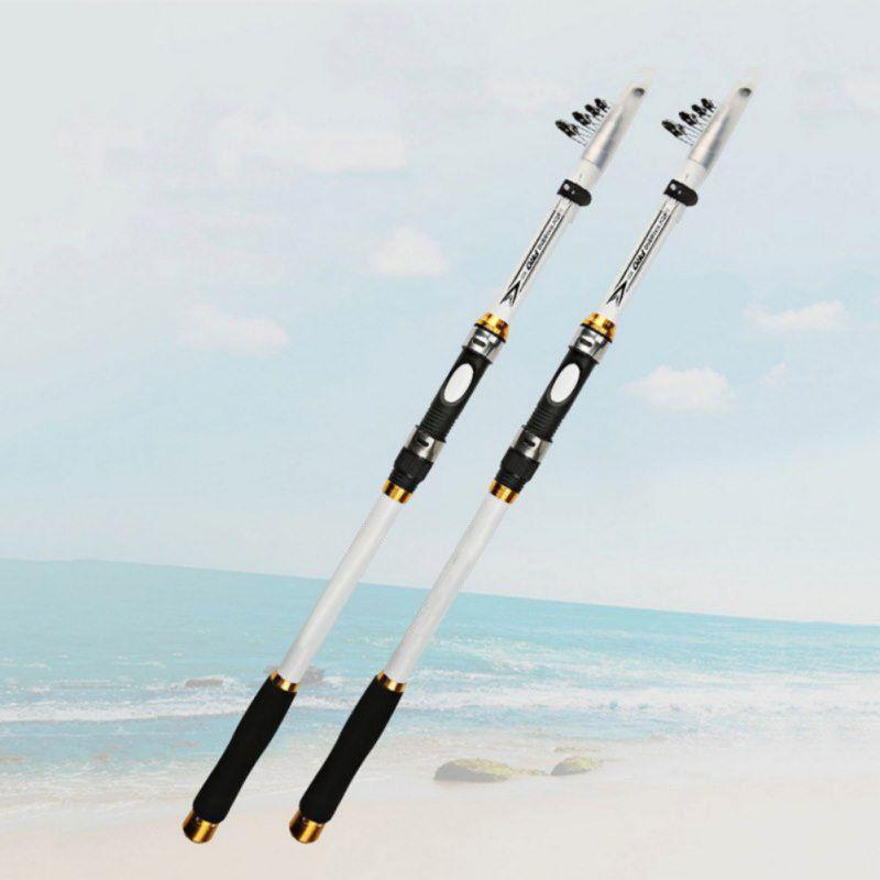 Bộ cần câu cá trắng - Cần carbon cao cấp - Tặng kèm cước  BCC92