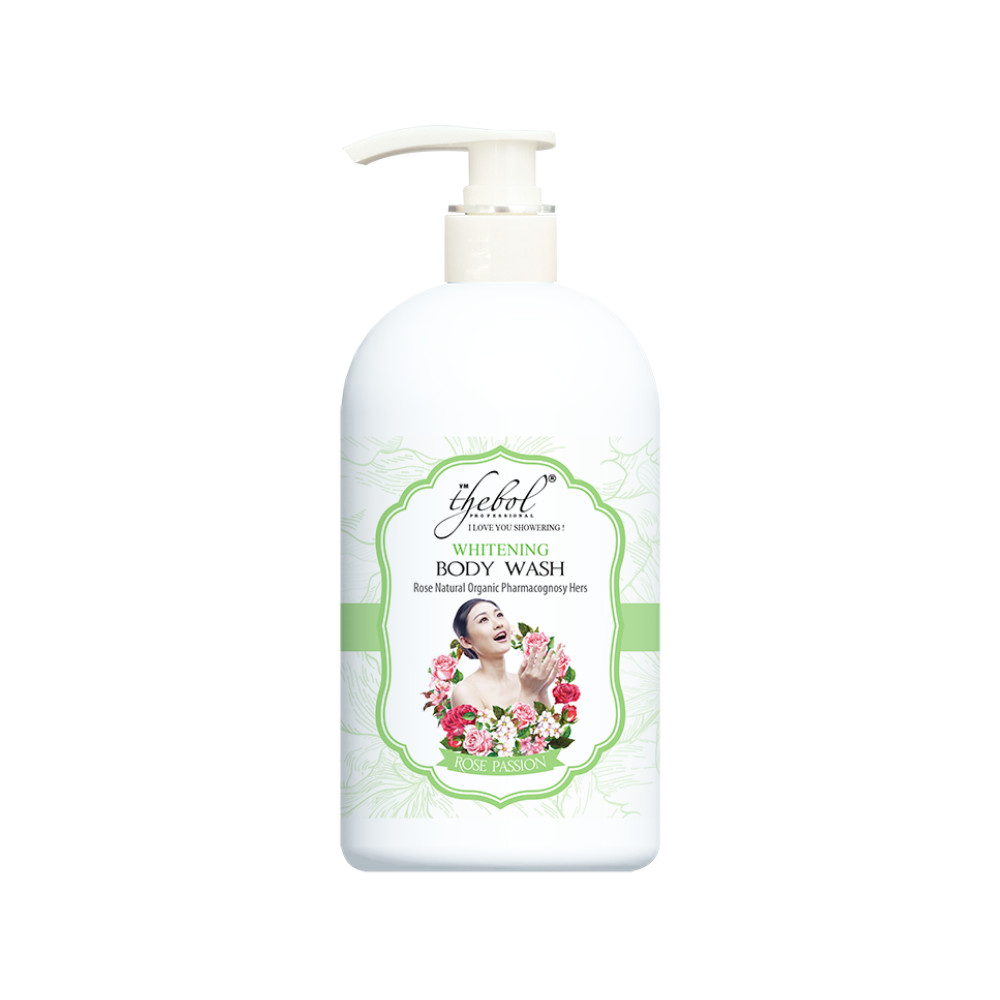 Sữa tắm Thebol tinh dầu thơm, thảo dược Hoa Hồng và Yến Mạch 580g