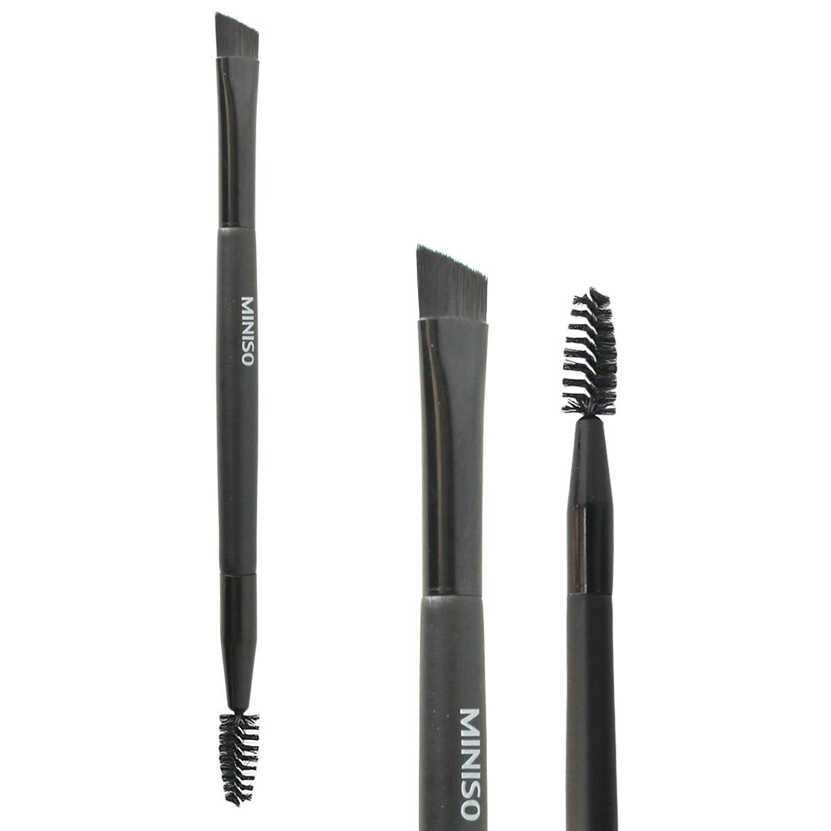 Cọ kẻ lông mày 2 đầu Nhật Bản chuyên nghiệp MINISO DUAL END EYEBROW BRUSH tạo dáng lông mày cong và sắc nét chính hãng - MNS095