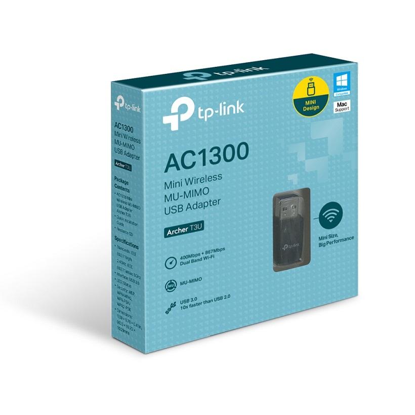 Bộ Thu Wifi TP-Link Archer T3U AC1300Mbps - Hàng Chính Hãng