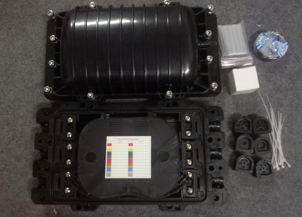 Măng xông quang GJS09-JTK12- 96A-nhựa ABS 3 in 3 out. Hàng chính hãng