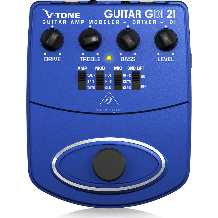 Guitar Stompboxes - Phơ cục - Fuzz - Behringer GDI21 Guitar Amp Modeler/Direct Recording Preamp/DI Box-Hàng chính hãng