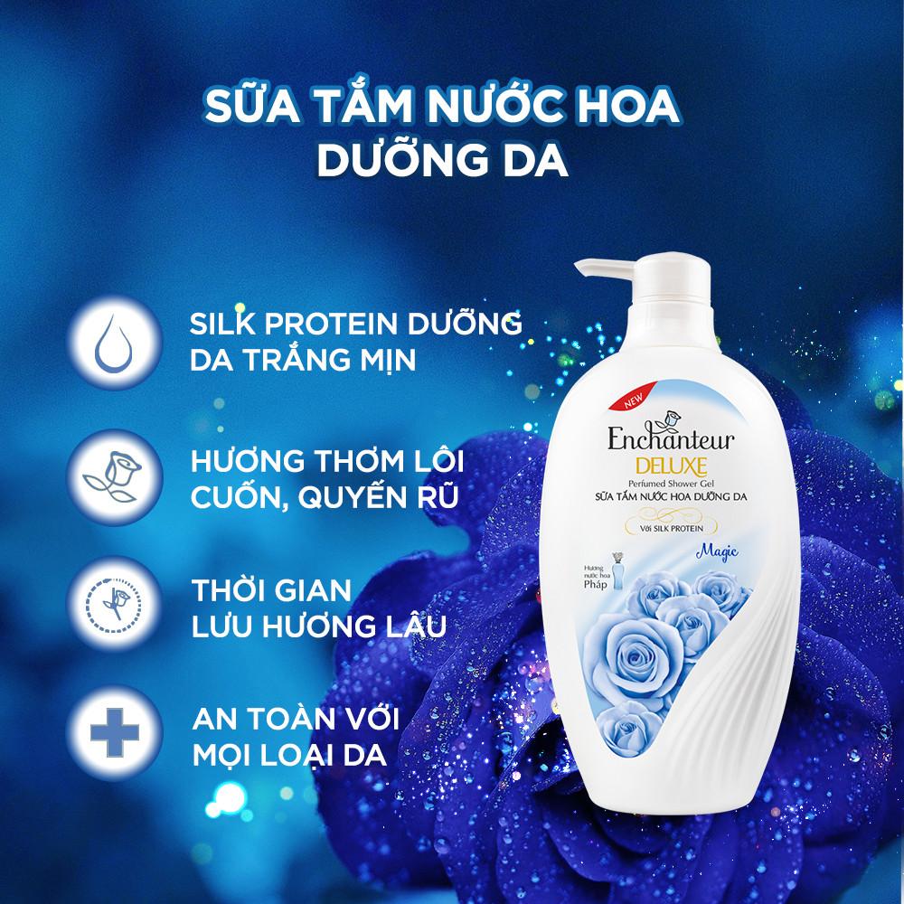 Sữa tắm nước hoa dưỡng da Enchanteur Magic lôi cuốn quyến rũ mịn màng quyến rũ 650gr