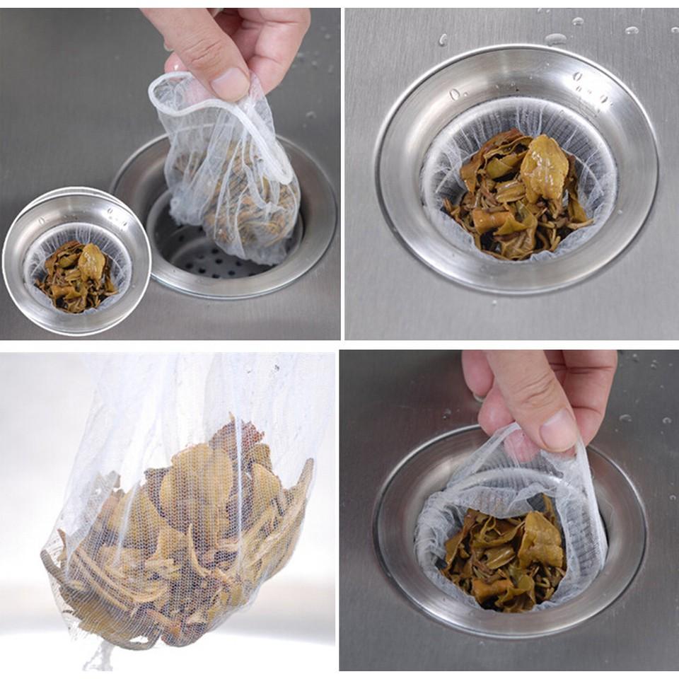 Gói 100 túi lọc rác bồn rửa bát