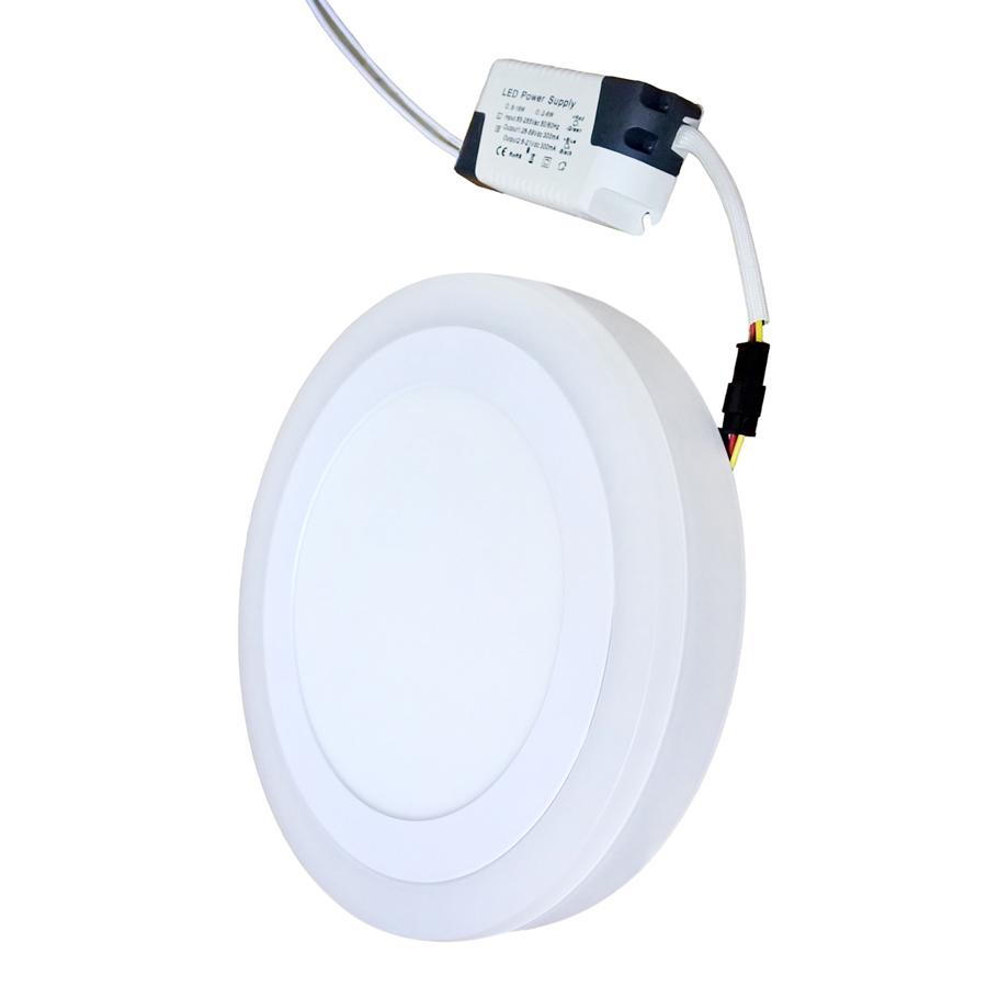 Đèn LED Ốp Trần Tròn 2 Màu 3 Chế Độ Posson LP-RoW12-B4 (12W + 4W ) - Ánh Sáng Trắng + Xanh