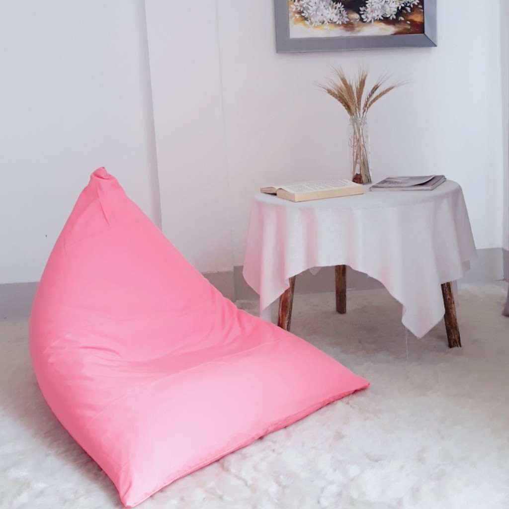 Ghế lười Kim tự tháp S Hồng Micro HomeDream - TetraS-HONG-HOMEDREAM