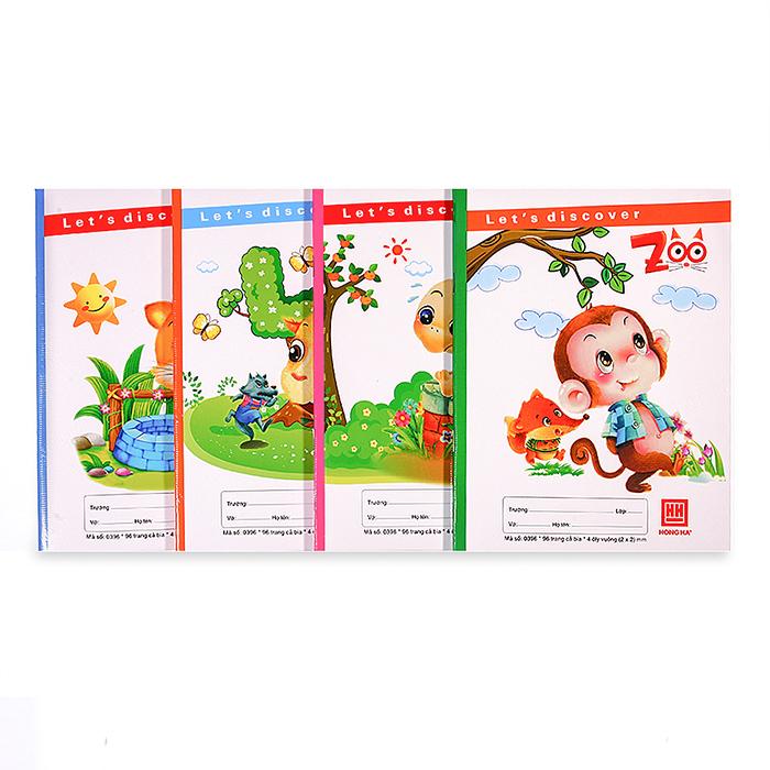 Vở 4 ô ly 96 trang Class Zoo 0396 (10 quyển)