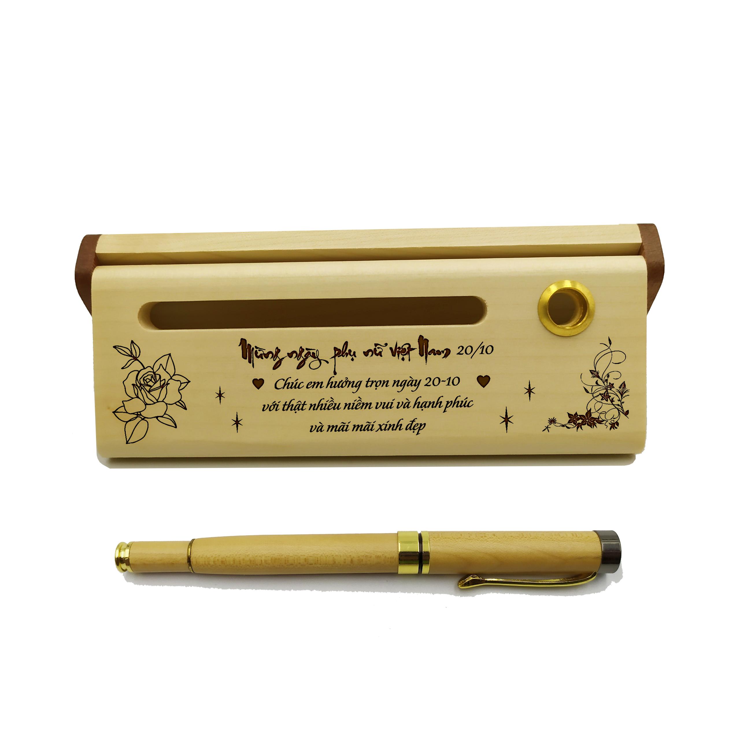 Bút gỗ cao cấp làm quà tặng ngày 20/10 (Kèm hộp đựng sang trọng)