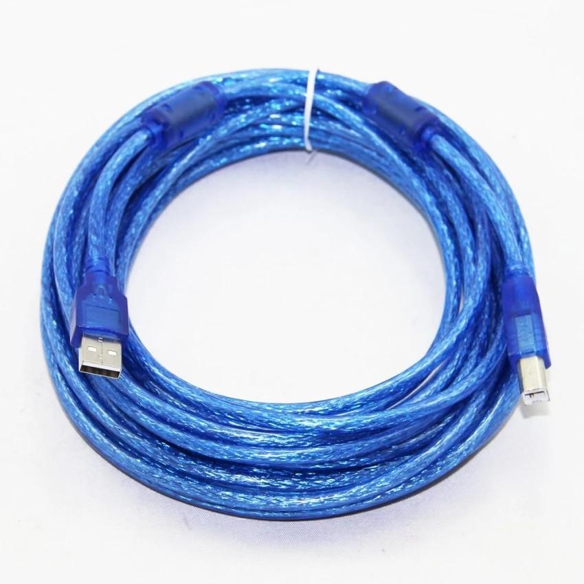 Dây Máy In 10M Kết Nối Cổng USB Có Cục Chống Nhiễu