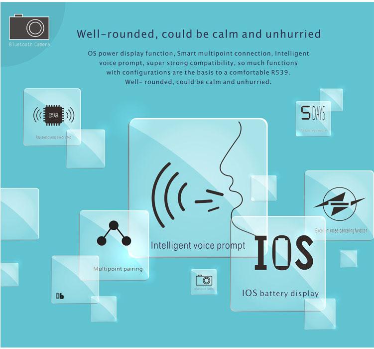Tai nghe Bluetooth Roman R539 - Hàng Nhập Khẩu