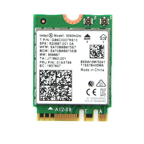 Card Wifi Intel AC9260 khe M2 có Bluetooth 9260NGW - Hàng nhập khẩu