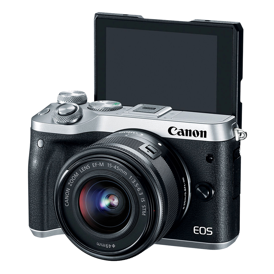 Máy Ảnh Canon EOS M6 Kit 15-45mm (Bạc) - Hàng Chính Hãng - Tặng Kèm Thẻ Nhớ Và Túi Đựng Máy Ảnh